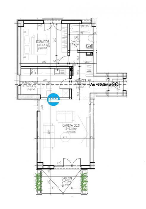 Apartamente noi, 2 camere, Semicentral  Podu de Fier