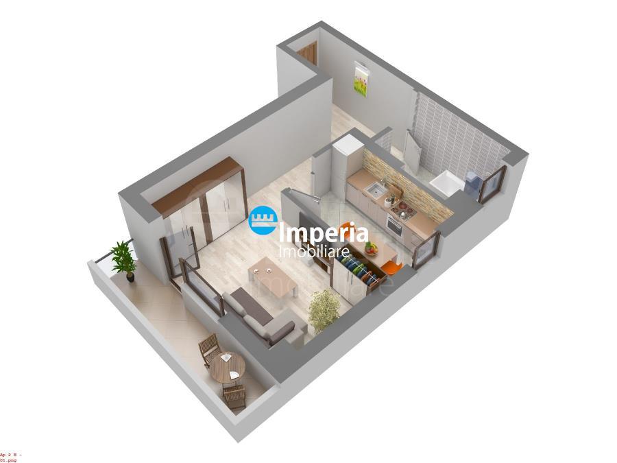 Apartament 1 cam de vanzare,46 mp,Galata