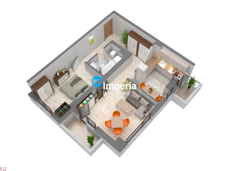 Apartament 2 camere 61 mp,bloc nou,75196 euro