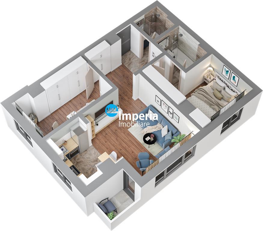 Apartament NOU, 3 camere, 2 bai  Tatarasi langa parc
