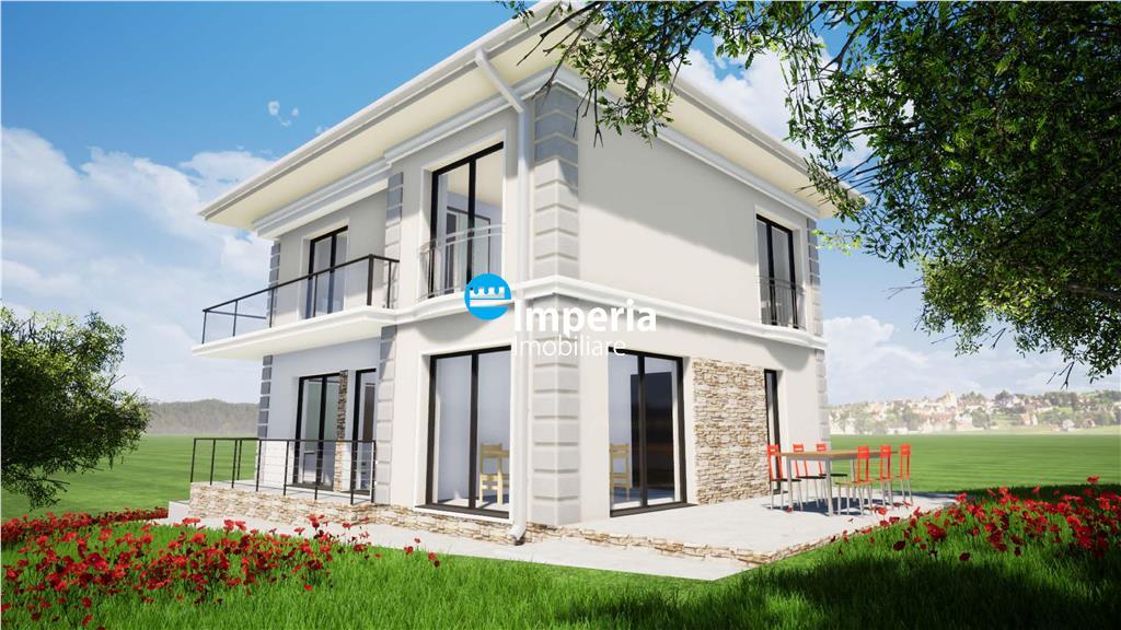 Vila 4 cam , 500 teren, La 2 Pasi in Miroslava
