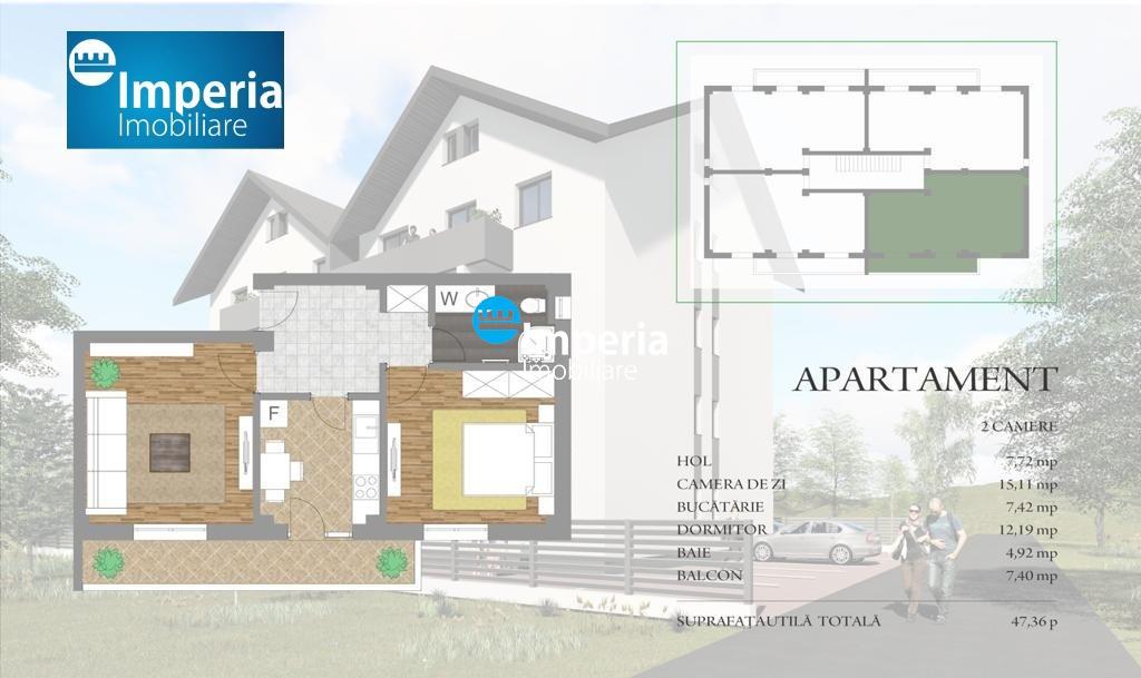 Apartament 2 cam, decomandat de vanzare in zona Bucium  Bellaria