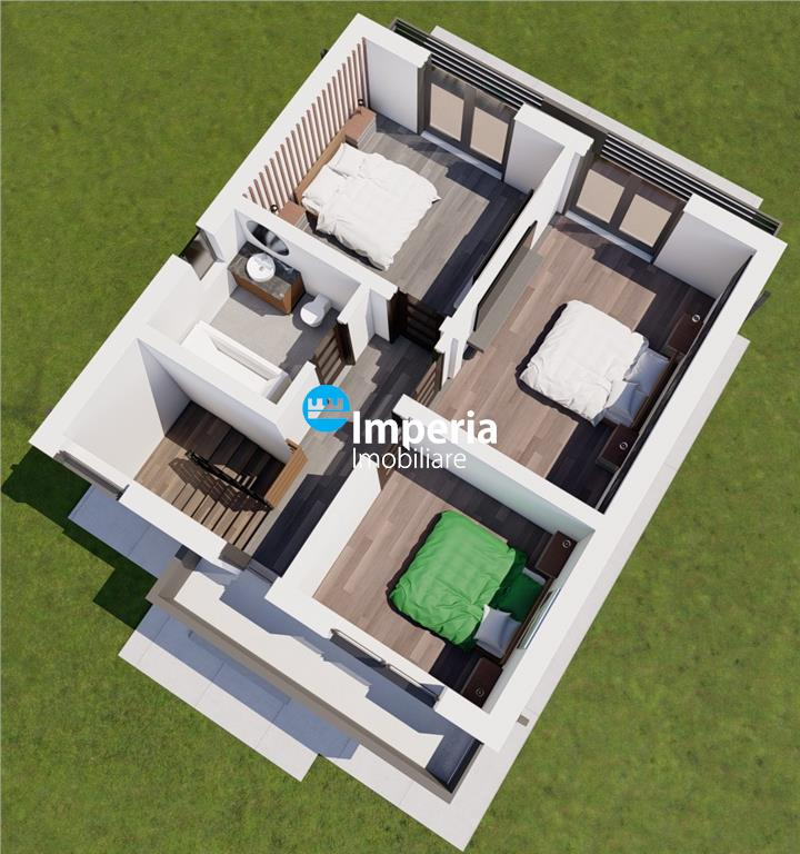 Vila 5 cam, 112 mu si 415 teren in Centrul zonei Miroslava