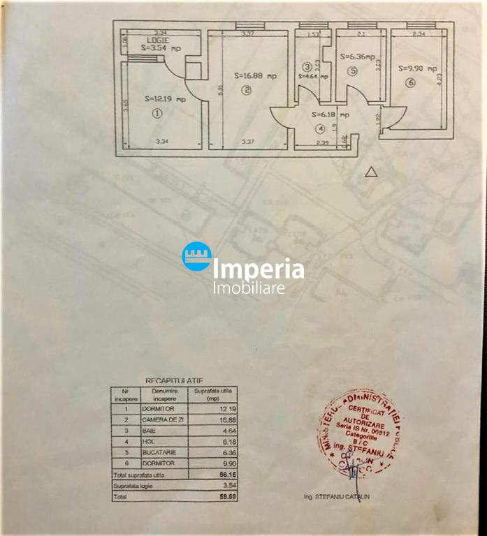 Apartament 3 camere de vanzare in Podu Ros, Iasi