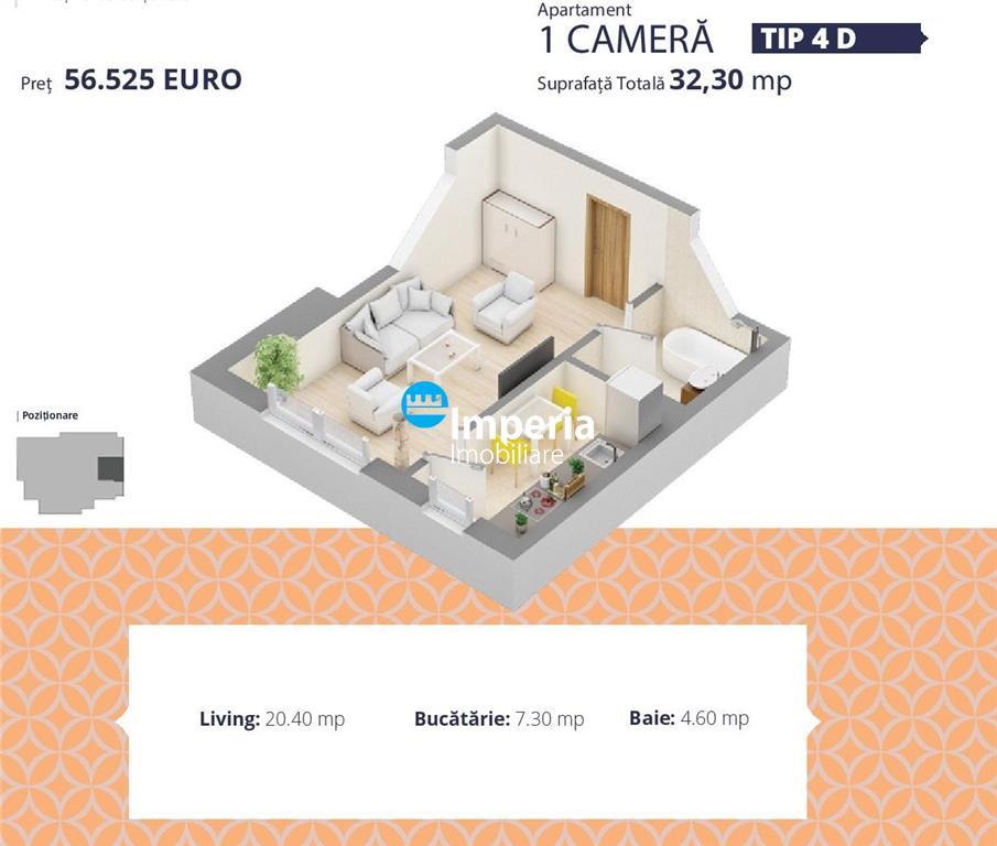 Apartament cu o camera, de vanzare Palas Iasi!