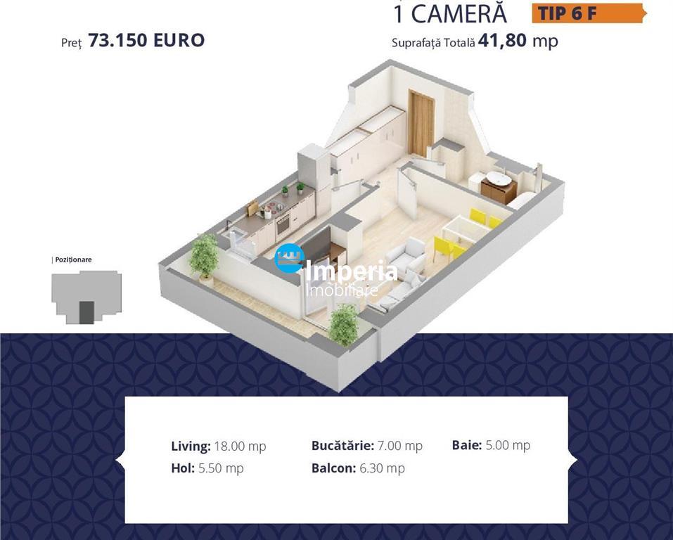 Apartament cu o camera de vanzare, ultracentral Palas Iasi!