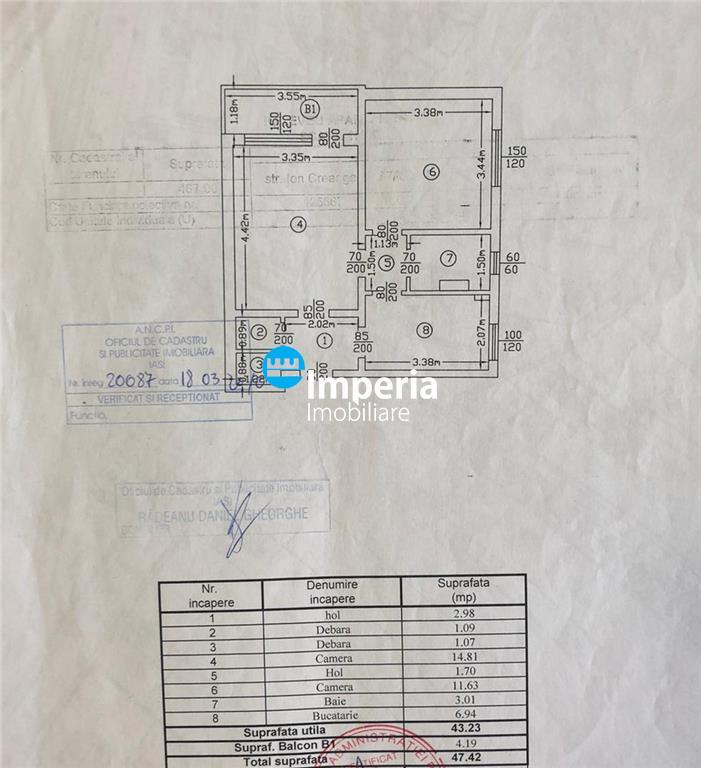 Apartament 2 cam, decomandat, de vanzare in zona Tatarasi  Dispecer