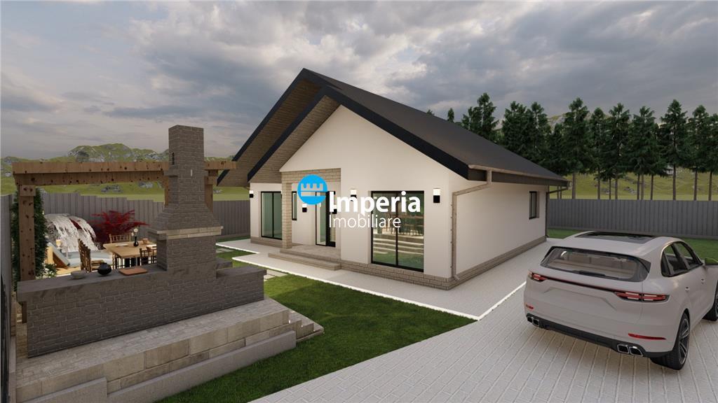 Casa 4 cam, 2bai, 500 teren, foisor, Valea Adanca