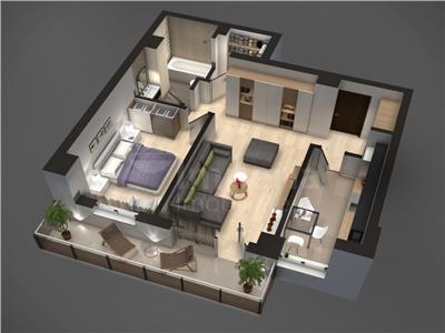 Apartament de vanzare,Tudor Vladimirescu,61 mp