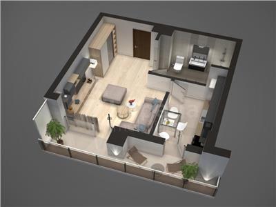 Apartament de vanzare,Tudor Vladimirescu 40.31 mp
