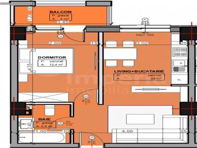 Apartament 2 camere 44 mp,bloc nou, zona Gara-Billa