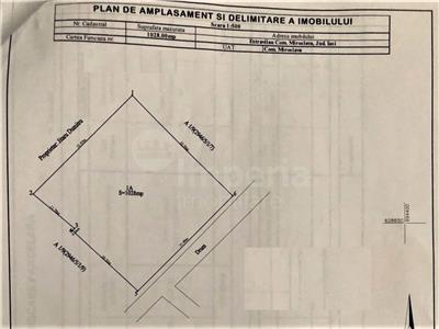 teren intravilan in iasi, zona valea adanca, str. imasului1028 mp