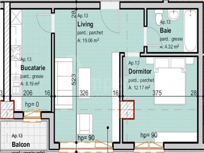 Apartament 2 camere de vanzare - Pacurari ,49550 euro