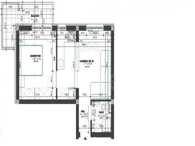 Apartament de vanzare 2 cam openspace, bloc nou, PacurariRediu