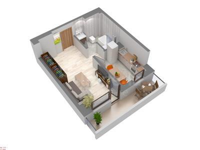 Apartament 1 cam de vanzare,40 mp,Galata,46637 euro
