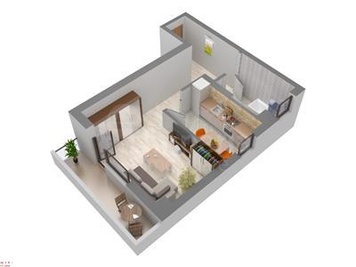 Apartament 1 cam de vanzare,48 mp,Galata