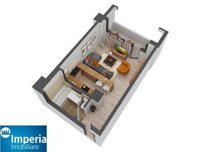 apartament cu 1 camera bloc nou, zona nicolina - cug Iasi