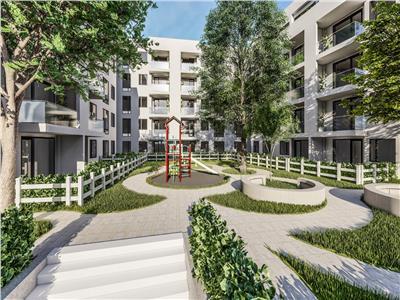 apartament de vanzare 1 camera cu gradina, bloc nou,zona rond pacurari Iasi