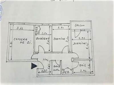 podul de fier, 3 camere decomandate de vanzare Iasi