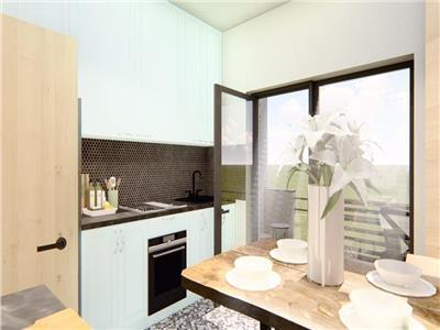 Apartament 1 camera,49 mp,model decomandat,bloc nou,TatarasiIasi