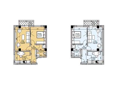 apartament 2 camere decomandat de vanzare valea adanca Iasi