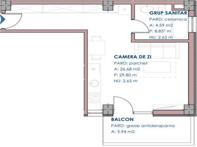 apartament de vanzare 1 camera openspace, 38.25 mp, bloc nou, pacurari rediu