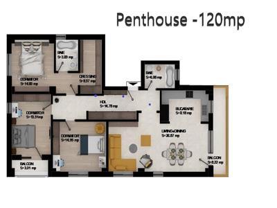 apartament 4 camere - tip penthouse, de vanzare, galata Iasi