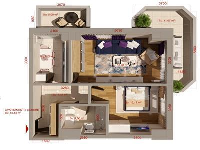 apartament 2 camere decomandat, etajul 1, bloc nou in copou - aleea sadoveanu! Iasi
