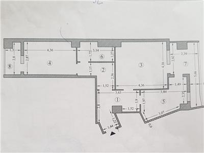 apartament 2 camere, decomandat, de vanzare, zimbru Iasi