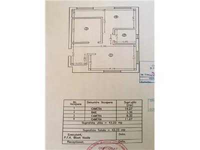 apartament 2 cam, decomandat de vanzare in zona tatarasi - flux constructii Iasi