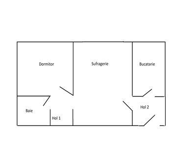 apartament 2 camere, sd, de vanzare in zona tatarasi - ciurchi Iasi