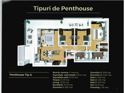 Apartament 4 camere tip penthouse, Tatarasi, bloc nou, comision zero!
